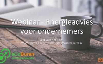 Webinar - Energieadvies voor ondernemers beginslide